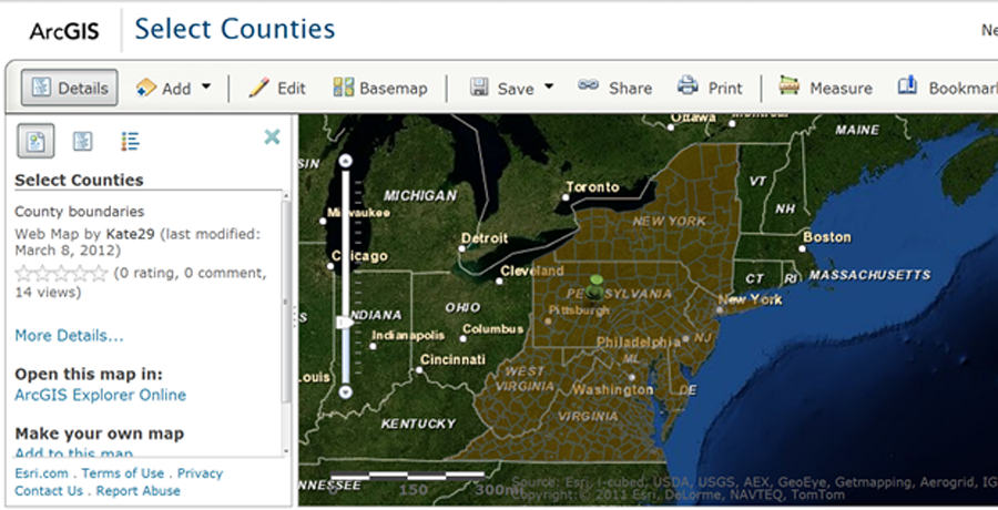 Earthbound Geospatial | Add your data to ArcGIS com and embed it in